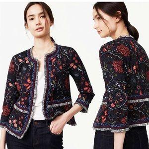 Ann Taylor Loft Jacket Embroidered Floral NWT Sz10